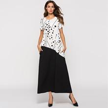 Long T Shirt Dress Short Sleeve Casual Clothing Islamic Muslim Abayas Dubai  Women 855861669491