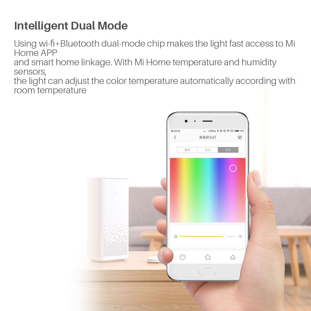 Image 3 - Yeelight Xiaomi Bedside Lamp MJCTD01YL LED Light Table Desk Lamp Smart Light Touch Control Bluetooth Connection for MiHome APP-in Smart Remote Control from Consumer Electronics