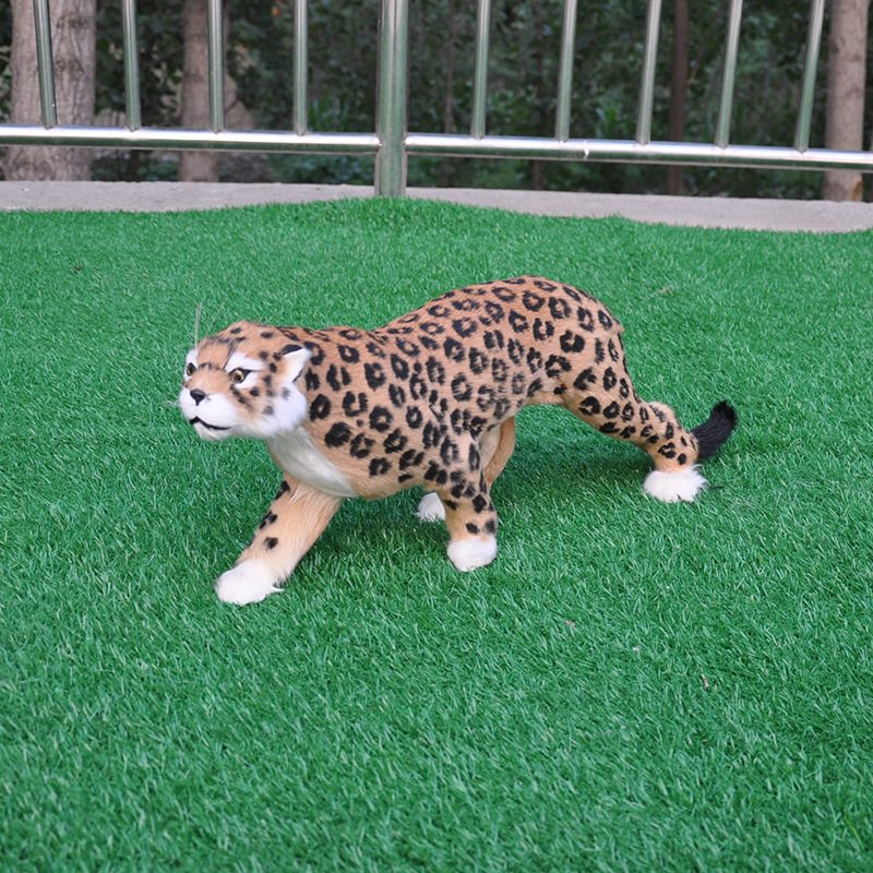 53cm Lifelike Leopard Stuffed Toys Cute Simulation Gold Panther Pet Plush Toy Plush Animals Toy Birthday Christmas Gifts