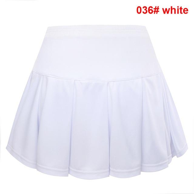Quick dry Badminton skirts Women , sports Tennis skirts ladies , shorts in skirt sports women running skirts