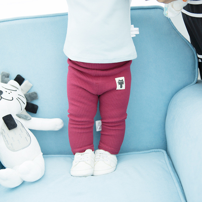 High Waist Baby Pants Cotton Baby Girls Leggings Autumn Spring Baby Boys Pants Kids Trousers Newborn Baby Legggings Pant