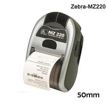 Zebra MZ220 50 мм Bluetooth тепловой мобильный принтер этикеток мини беспроводной вынос билетов для Android, iOS портативный принтер