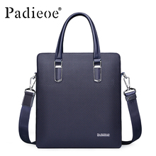 Padieoe Men Shoulder Bags Genuine Leather Briefcase Brand Men's Messenger Bag Business Handbag Crossbody Bags Free Shipping