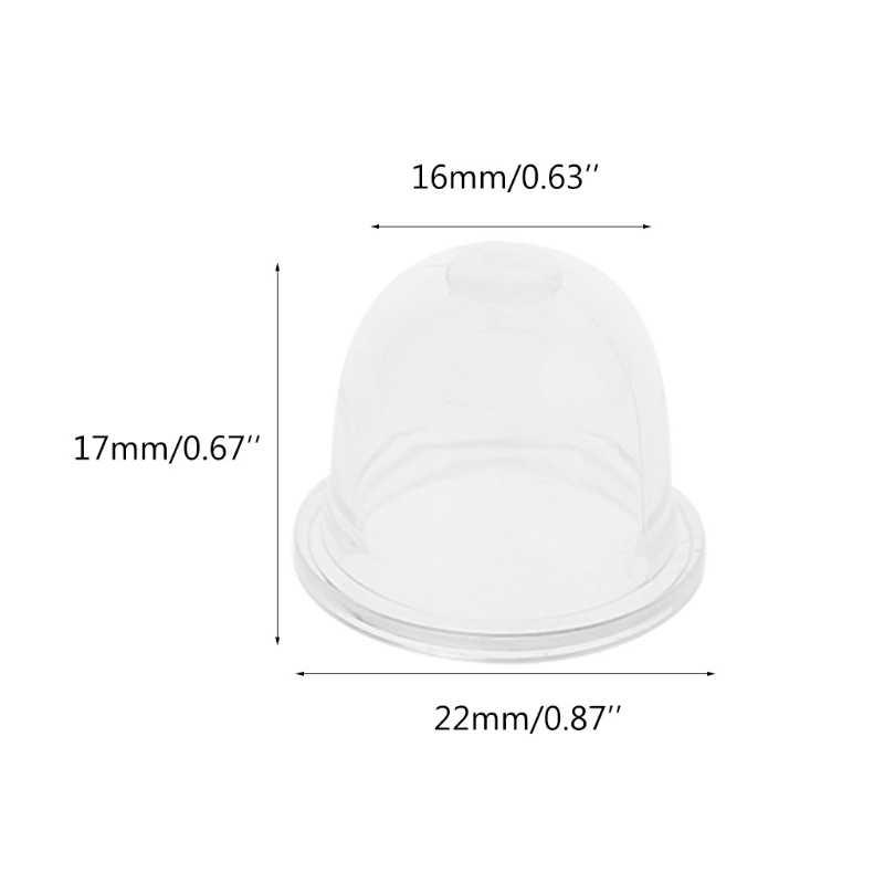 10 шт. 17 мм Карбюратор Carb праймер лампа крышка топливный насос нагнетатель цепной пилы триммер