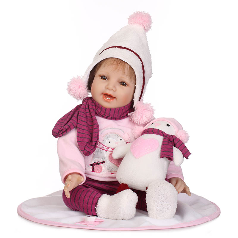 Hot Selling 55CM Jointed Reborn Doll Lifelike Kids Baby Dolls Toys for Infant Playmate Christmas Gift 55cm vinyl jointed reborn doll lifelike kids baby dolls for infant playmate christmas gift m09