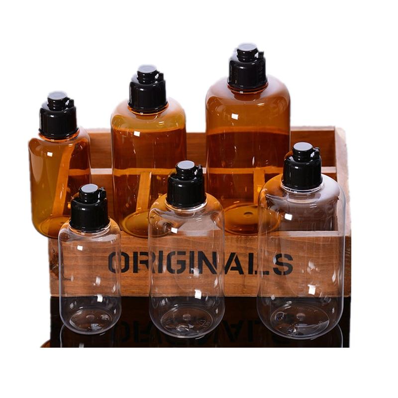 120ml 100ml 80ml 60ml 30ml 20ml Frosted Glass Lotion Pump Bottle Wood Grain Cap 30g 50g