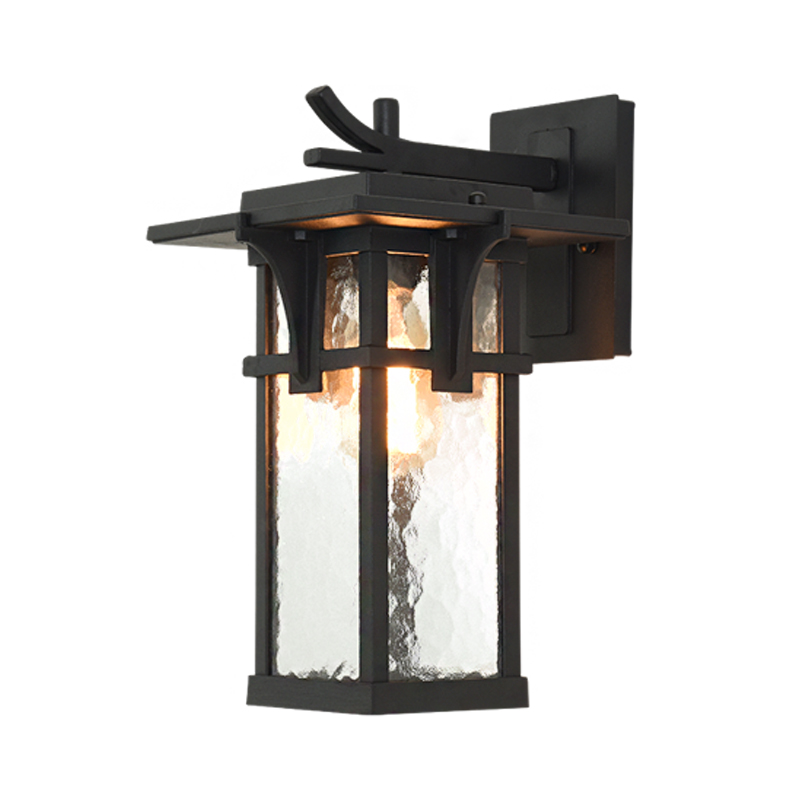 Waterproof Outdoor Sconce New Eastern Style Square Lantern Abstract Dragon Head Lamp Arm Sensor Can Be Added Patio Porch Dsqi