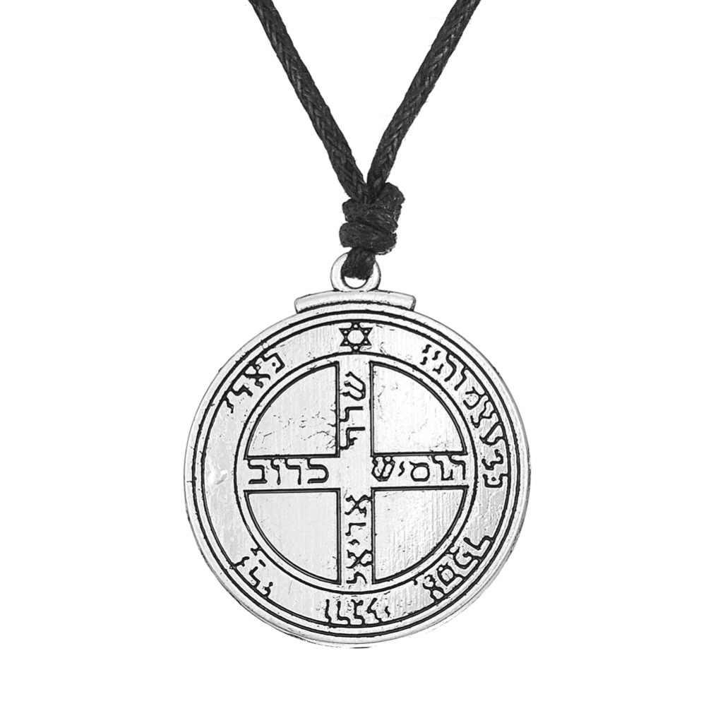 10 шт. талисман на удачу ключ Соломона печать с пентаграммой ожерелье для мужчин