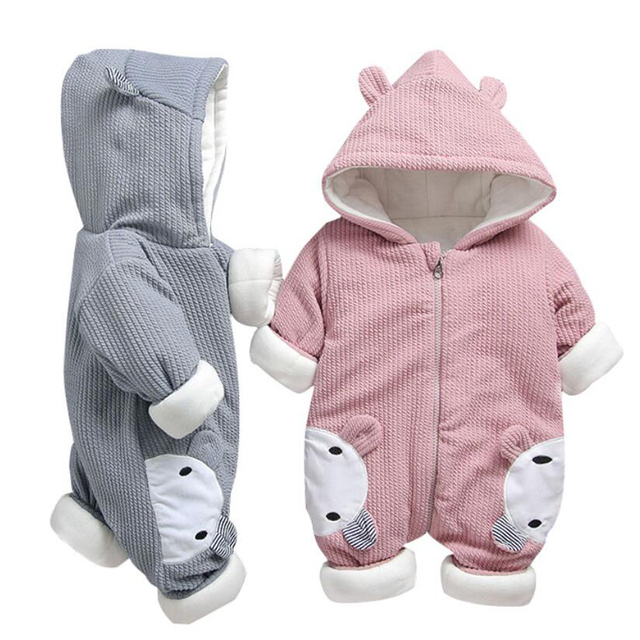 8bca0abe046a Russia Baby Costume Rompers Clothes Cartoon Infant Jumpsuits Winter Boy  Girl s Garment Thicken Warm Cotton Coat Jacket For Kids