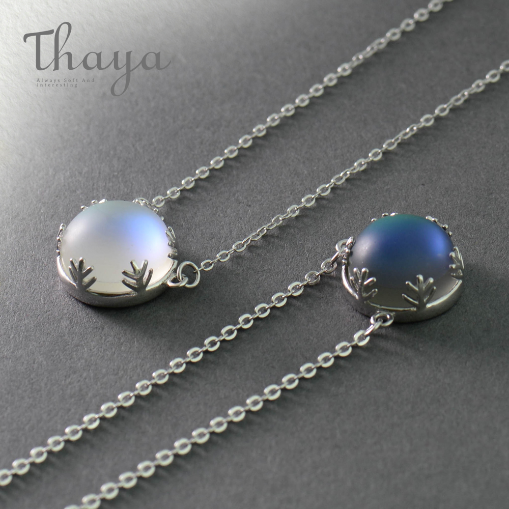 55cm Aurora Pendant Necklace Halo Crystal Gemstone Silver Scale Light Necklace for Women Elegant Jewelry Gift
