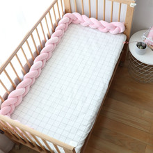 Baby Bed Bumper Newborns Nordic Knot Crib Protector Infant Knotted Braid Cot Bedding Baby Room Decor For Boy Girl 1Pcs 1M 2M