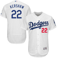 MLB Men S Los Angeles Dodgers Clayton Kershaw Majestic White Flex Base Player Jersey