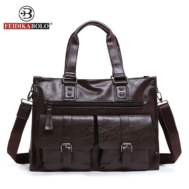 ФОТО FEIDIKA BOLO Designer Handbags High Quality Tote Bag Men Messenger Bags Business Man Genuine Leather Bags Men Shoulder Bag