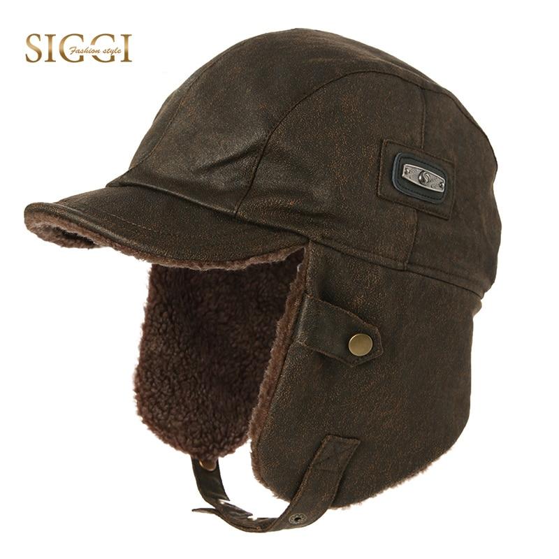 FANCET Winter Unisex Bomber Hat For Men Adult Pilot Aviator Cap Earflap Windproof Ushanka Waterproof Trapper Hunting Hat 88115