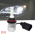 Autotek 6500K 8000LM H4 Led car bulbs headlight Replacement halogen lamp drl daytime running light automobile accessories