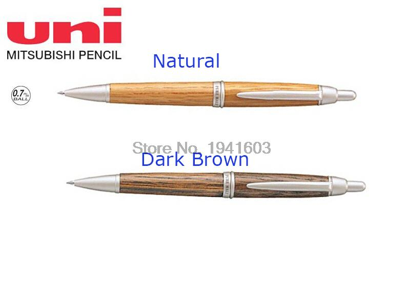 3 pcs/lot Uni Pure Malt Ballpoint Pen 0.7mm Oak Wood 2 colors to choose from SS-1015 Japan stationery wholesale Free Shipping