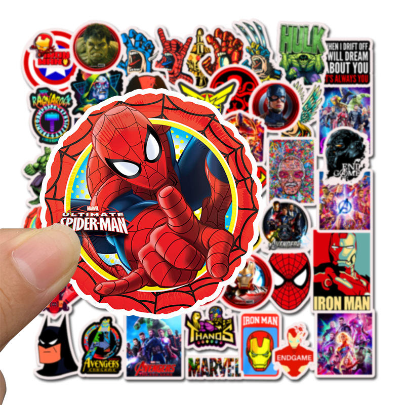 Image 2 - 50PCS Superhero Computer Stickers Waterproof Laptop Skin Vinyl Deco Sticker Skateboard Suitcase for MacBook Lenovo Notebook Skin-in Laptop Skins from Computer & Office