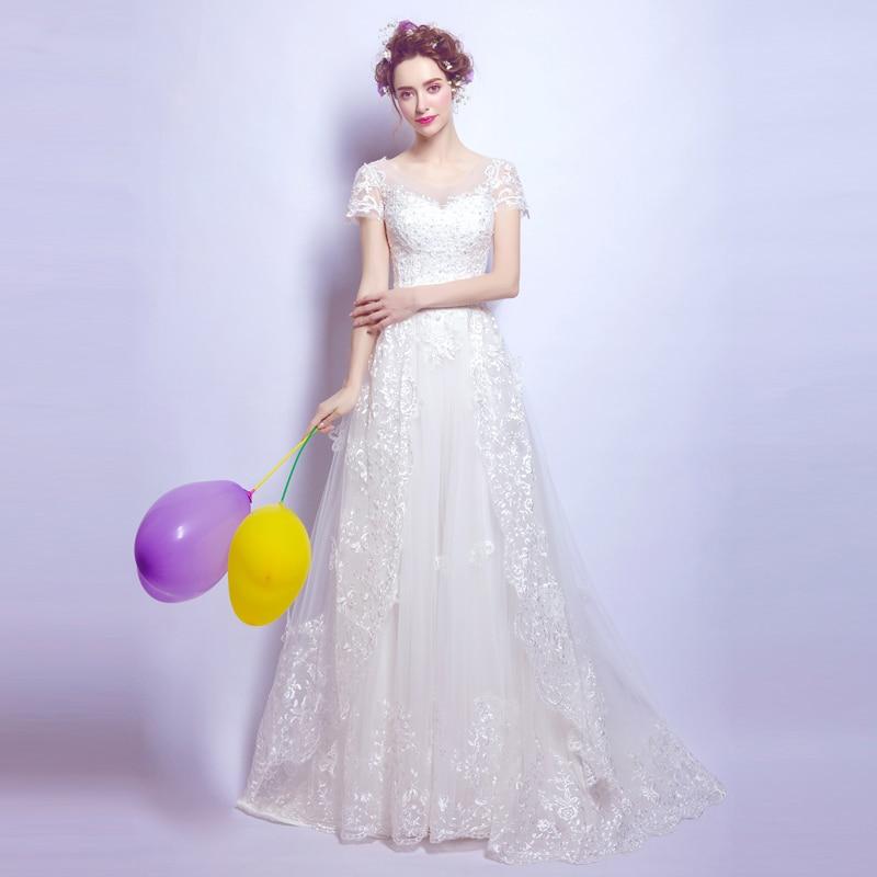 Angel Wedding Dress Marriage Bride Bridal Gown Vestido De Noiva 2017 Bud silk nail bead the small tail big bo 6700