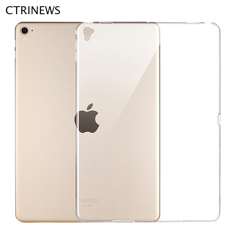 CTRINEWS Luxury Case For iPad Pro 12.9 inch 2017 Transparent Crystal Clear TPU Silicone Cover For iPad Pro 12.9 2017 Tablet Case ctrinews for ipad air 1 case clear transparent soft tpu silicone back case for apple ipad 5 air 1 tablet pc protective cover