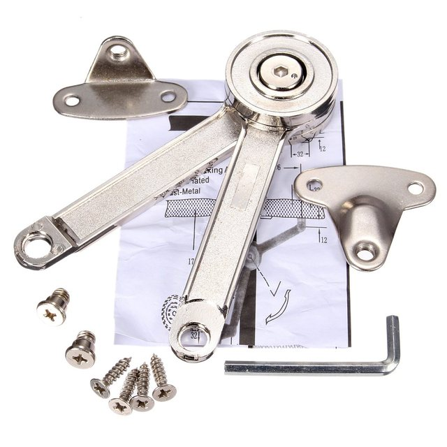 Hydraulic Randomly Stop Hinges Kitchen Cabinet Door Adjule Polish Hinge Furniture Lift Up Flap Stay Support
