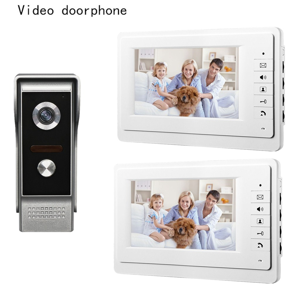 Wired video doorbell intercom system 7 inch high definition color screen and night vision camera video door phone for villa 1V2 велосипед stels navigator 350 lady 2015