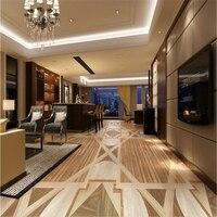Beibehang Large Custom Wallpapers Mural High Grade Wood Grain Mosaic Floor Tiles Photo Wallpaper Papel Parede