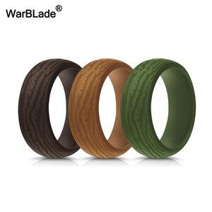 Image 2 - 3 pièce/ensemble hommes Silicone anneaux de qualité alimentaire FDA Silicone bague hypoallergénique Flexible en plein air Sport antibactérien bandes de caoutchouc