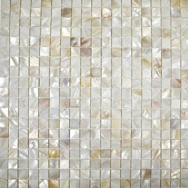 Natural Cream Color Chinese Freshwater Shell Mosaic Tiles For