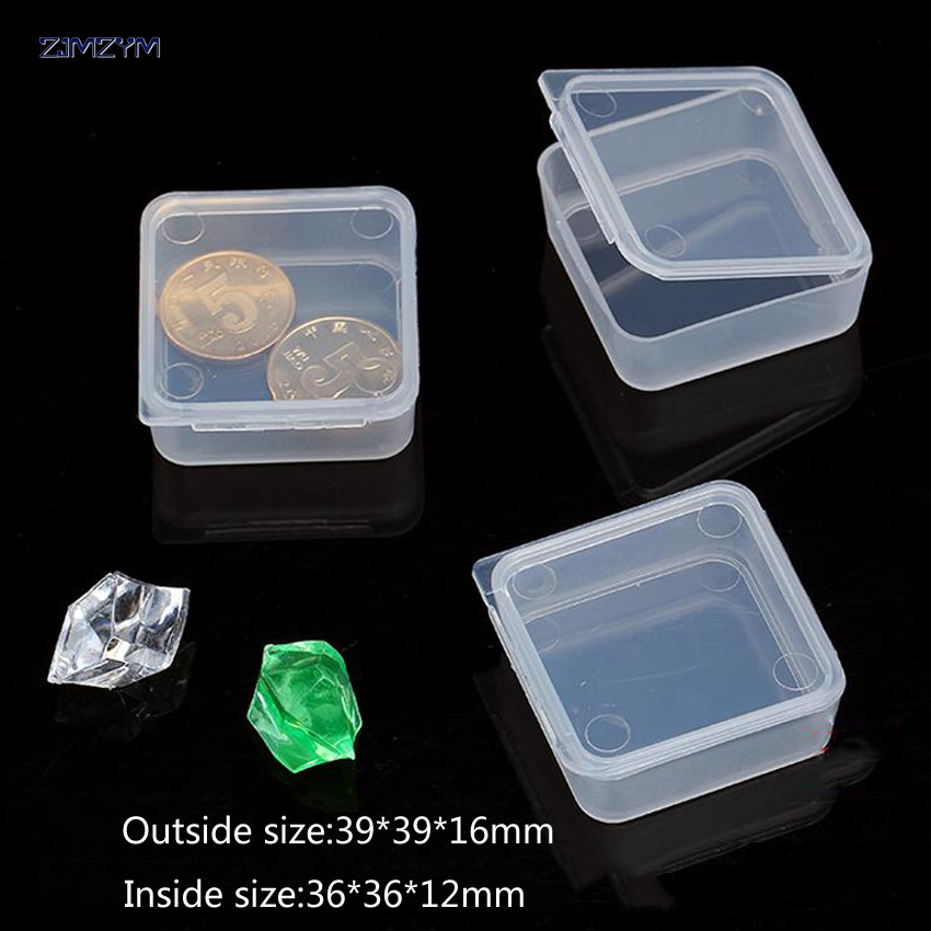 3PCS/set New rectangle Portable Jewelry Tool Box Container Ring Electronic Parts Screw Beads Component Storage Box