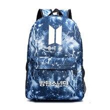 Print Lightning Bag with Peripheral Lightning Backpack Letter Number Two-Shoulder Backpack Female Student Canvas Backpack Bags letter print zip pocket backpack