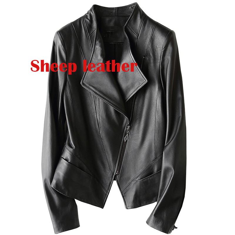 women sheepskin   leather   jacket women motorcycle jackets woman   leather   coat 2019 winter Women Fur Jacket Coat female jacket