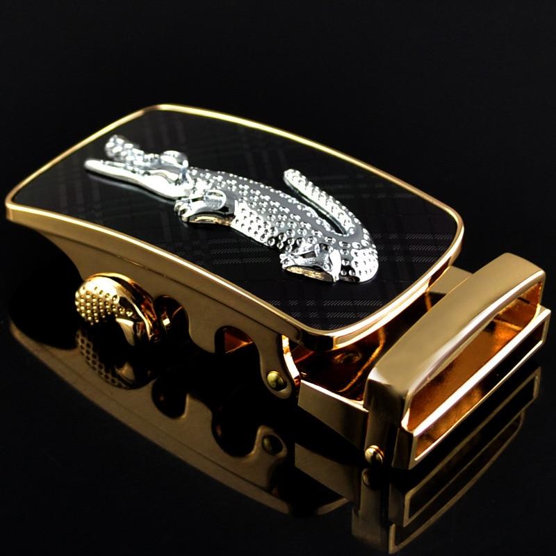 Genuine Men's Belt Head Buckle Leisure Belt Head Business Accessories Automatic Buckle Width Luxury Fashion Belts LY136-0705