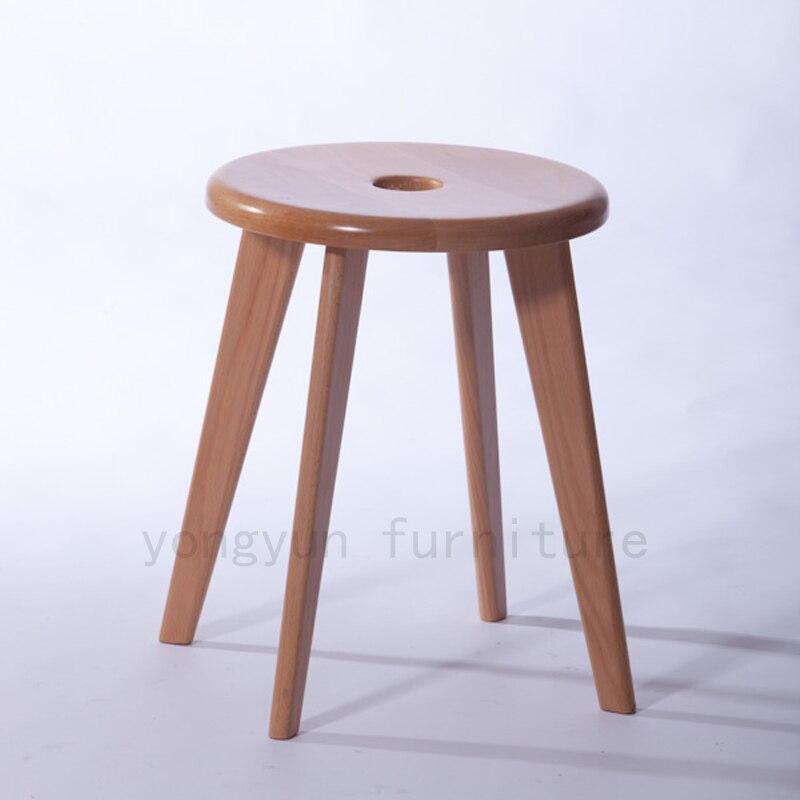 EntrüCkung Minimalistischen Modernen Design Massivholz Esszimmermöbel Stühle Wohnzimmer Stuhl Balkon Runde Hocker Hohe 45 Cm Home