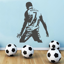 Cr7 Football Player Cristiano Ronaldo Wall Art Decal Wall Stickers Nursery Boys Kids Room Decor Soccer Wall Decals Sticker 3d soccer player and goal wall art sticker decal