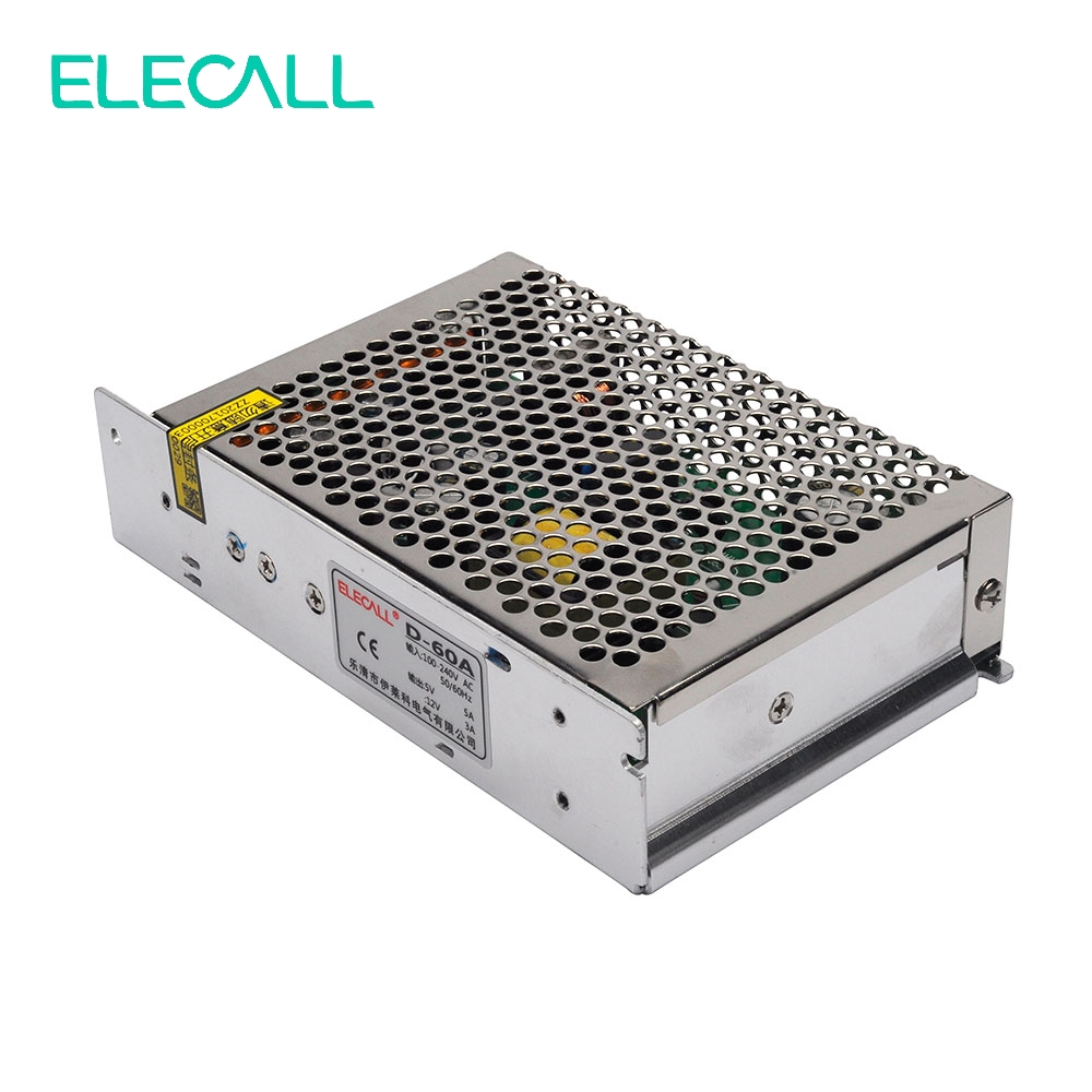 Elecall D120A Dual Output Switching Power Supply AC To DC 5V/12V 5A/12A 120W Switch Power Supply AC DC Converter free shipping120w mini dual output switching power supply output voltage 5v 24v ac dc d 120b