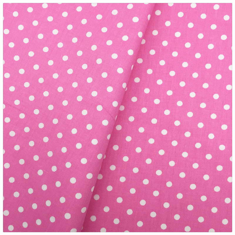 cotton fabric polka dot scrap remnant 7x25 inches pink polka  dot novelty fabric sewing supplies dress fabric kid fabric love lace rose