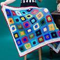 75 * 115cm Square Handmade Crochet Blanket, Yoga Blanket Cotton Line Mat Mat Sofa Cushion Baby Blanket Tablecloth Free Shipping