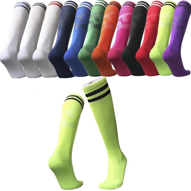 Men's Outdoor Long Socks Kids Over The Knee Socks Football Soccer Running Sport Non-slip Socks Og-02