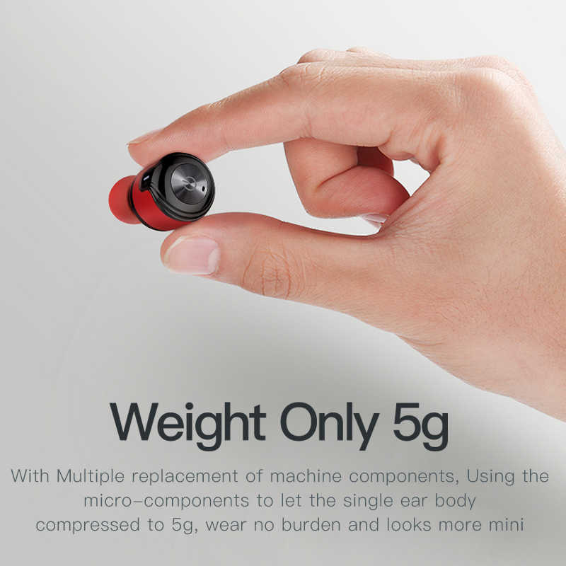 Awei T8 TWS prawdziwy bezprzewodowy sport Eearbuds słuchawki z 700mAh Power Bank podwójny mikrofon 3D Stereo douszne słuchawki douszne