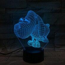 Mr Peabody & Sherman Desk Lamp Bedside Decor Room Decorative Lamp Child Kid Baby Kit Cartoon Dog Night Light LED 3D Illusion peabody