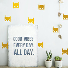 Nordic Style Cartoon Bat Wall Stickers For Kids Room Living Room Decorative Wall Art Decal Animal Children Bedroom Vinyl Sticker