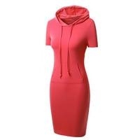 bd9b9d7036 Women Sheath Dress Hoody With Pockets Hooded Autumn Dresses Winter Peplum  Female Wear Hoodie Bodycon Tunic