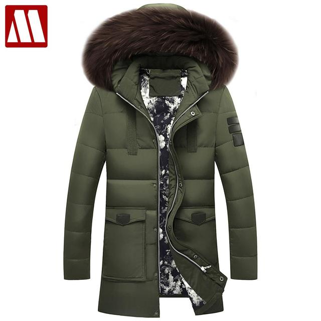 Aliexpress.com : Buy 2017 Winter Brand Men Down Jacket Fur Hood ...
