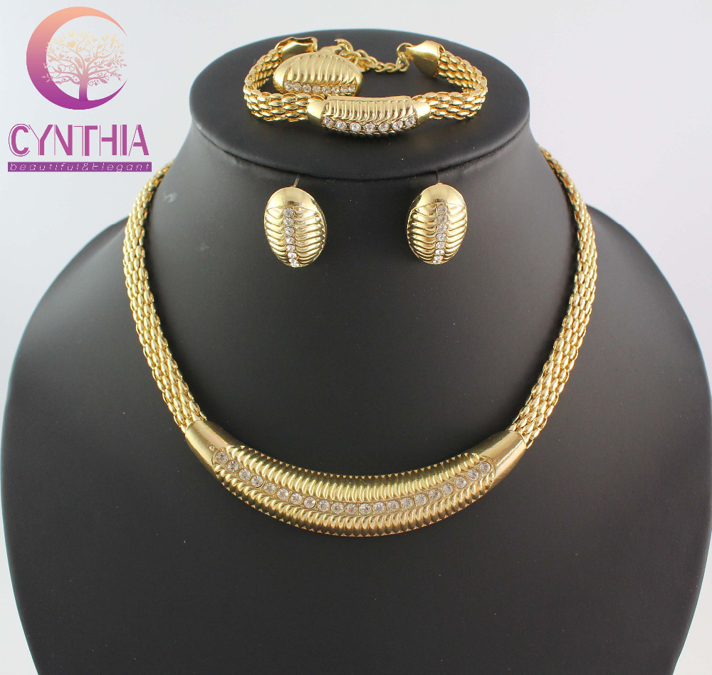 Free Shipping New Arrival 2014 Hot Sale Fashion African Costume Jewelry Set For Women Wedding Gold Plated Jewelry Sets WB-1103