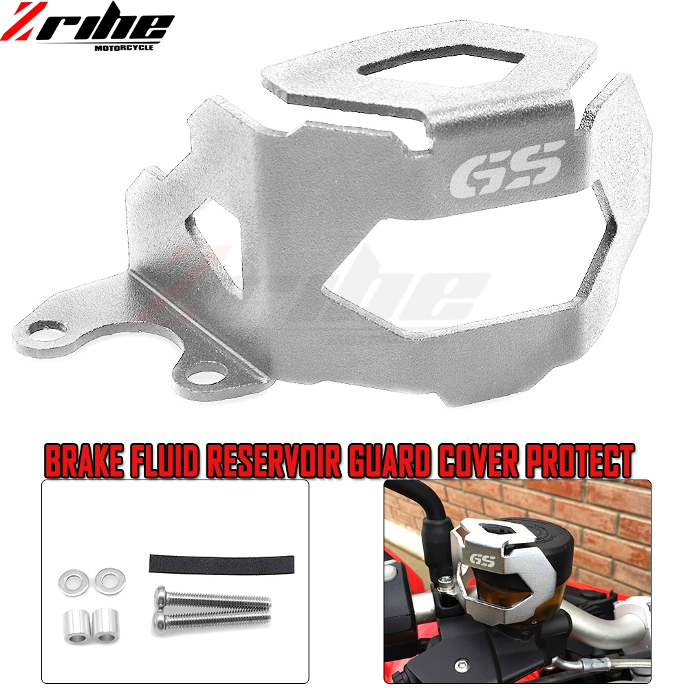 Motorcycle Aluminum Front Brake Fluid Reservoir Guard Protective Cover For BMW F800GS F700GS 2013 up with logo