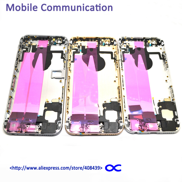 6G Back Battery Cover Full Housing For IPhone 6 6G 4.7'' Battery Case Door With Flex cable Small parts Replacement