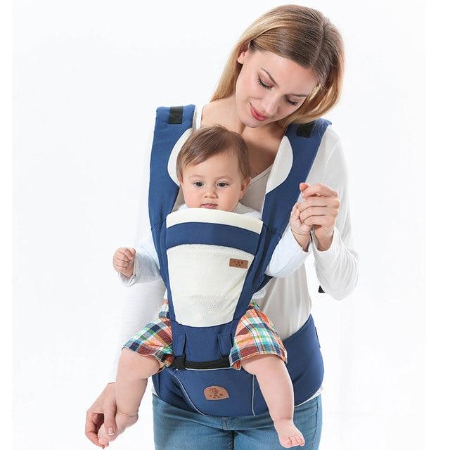 À capuchon ergonomique porte-bébé sac à dos portable nouveau-né infantile  kangourou porte 01fc2f308b9