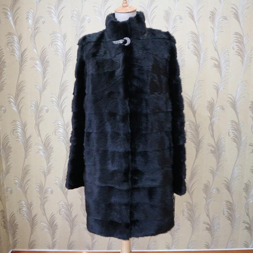 XINYUXIANG 2018 Personalizar Verdadeira pele de Vison Casacos Mulheres Moda Inverno Grosso Outwear Quente Mulher negra Natural mink Fur casacos Longos