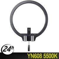 Новый бренд YONGNUO YN608 5500 К светодиодный Беспроводной Управление видео Studio кольцо свет лампы для живого видео и selfie