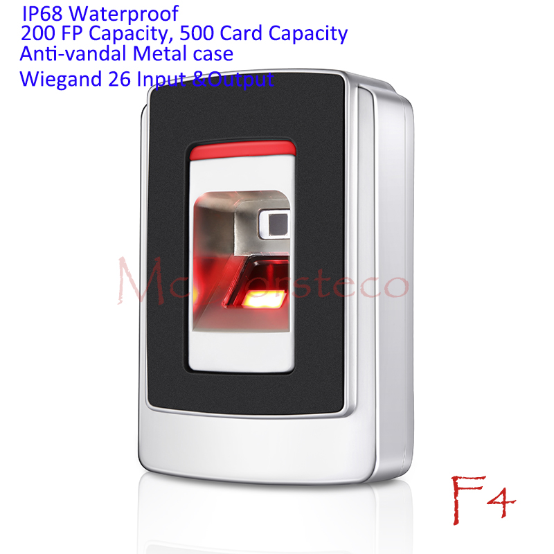 IP68 Waterproof Fingerprint Access Control System Rfid Access Controller Wiegand 26 Fingerprint Reader Anti vandal Door